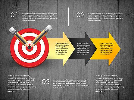 Process with Target Concept Diagram, Slide 13, 02913, Process Diagrams — PoweredTemplate.com