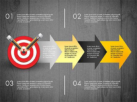 Process with Target Concept Diagram, Slide 15, 02913, Process Diagrams — PoweredTemplate.com
