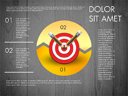 Process with Target Concept Diagram, Slide 16, 02913, Process Diagrams — PoweredTemplate.com