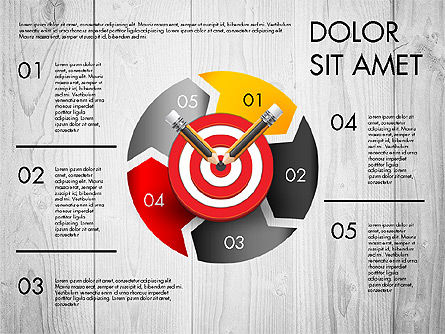 Process with Target Concept Diagram, Slide 2, 02913, Process Diagrams — PoweredTemplate.com