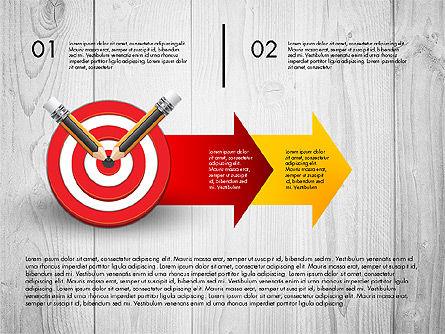 Process with Target Concept Diagram, Slide 3, 02913, Process Diagrams — PoweredTemplate.com