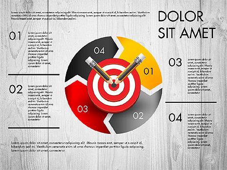 Process with Target Concept Diagram, Slide 4, 02913, Process Diagrams — PoweredTemplate.com
