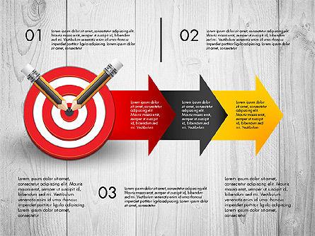 Process with Target Concept Diagram, Slide 5, 02913, Process Diagrams — PoweredTemplate.com