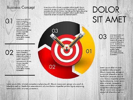 Process with Target Concept Diagram, Slide 6, 02913, Process Diagrams — PoweredTemplate.com