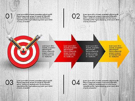 Process with Target Concept Diagram, Slide 7, 02913, Process Diagrams — PoweredTemplate.com