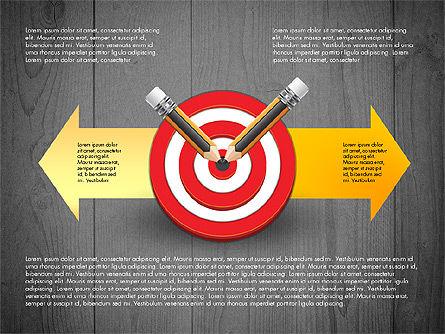 Process with Target Concept Diagram, Slide 9, 02913, Process Diagrams — PoweredTemplate.com