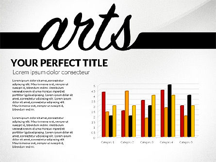 Education Report with Data Driven Charts Concept, Slide 2, 02914, Education Charts and Diagrams — PoweredTemplate.com