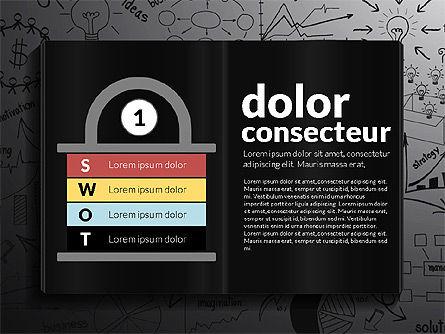 SWOT Analysis Creative Presentation Template, Slide 13, 02915, Business Models — PoweredTemplate.com