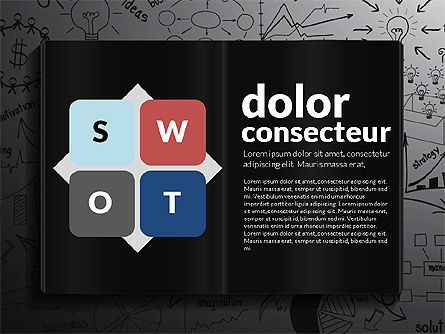 SWOT Analysis Creative Presentation Template, Slide 9, 02915, Business Models — PoweredTemplate.com