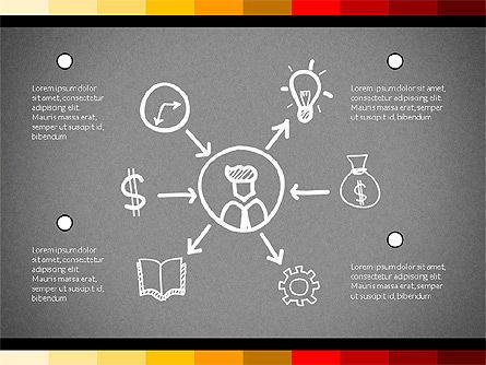 Teamwork Concept with Doodle Shapes, Slide 12, 02916, Presentation Templates — PoweredTemplate.com