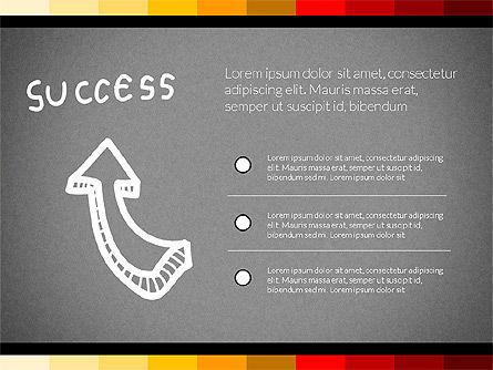 Teamwork Concept with Doodle Shapes, Slide 14, 02916, Presentation Templates — PoweredTemplate.com