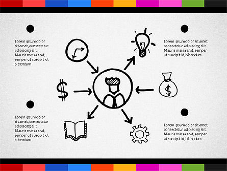 Teamwork Concept with Doodle Shapes, Slide 4, 02916, Presentation Templates — PoweredTemplate.com