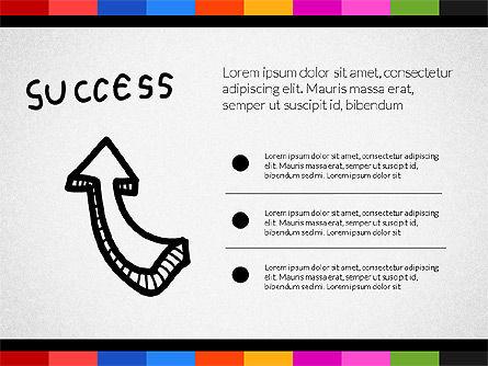 Teamwork Concept with Doodle Shapes, Slide 6, 02916, Presentation Templates — PoweredTemplate.com