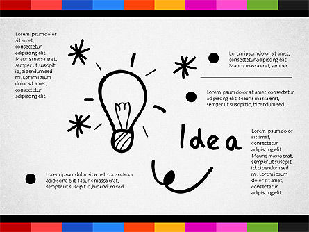 Teamwork Concept with Doodle Shapes, Slide 7, 02916, Presentation Templates — PoweredTemplate.com