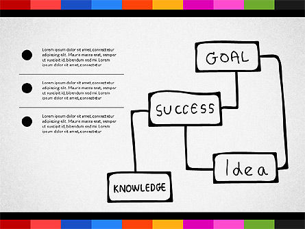 Teamwork Concept with Doodle Shapes, Slide 8, 02916, Presentation Templates — PoweredTemplate.com