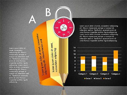 Infographics with Pencil and Manometer, Slide 13, 02917, Infographics — PoweredTemplate.com