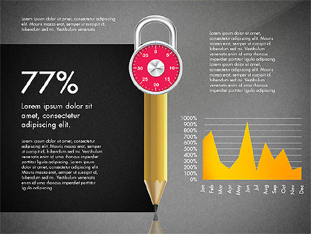 Infographics with Pencil and Manometer, Slide 16, 02917, Infographics — PoweredTemplate.com