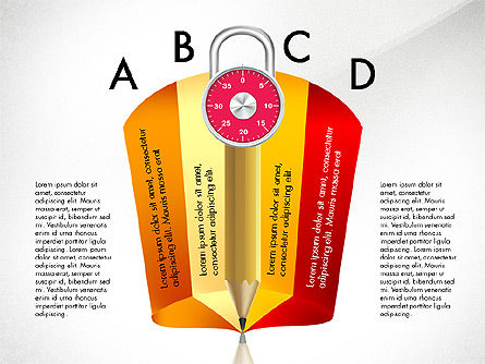 Infographics with Pencil and Manometer, Slide 6, 02917, Infographics — PoweredTemplate.com
