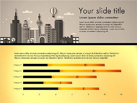 Presentation with City, Slide 10, 02921, Presentation Templates — PoweredTemplate.com