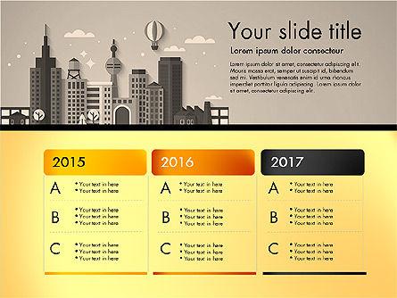 Presentation with City, Slide 11, 02921, Presentation Templates — PoweredTemplate.com