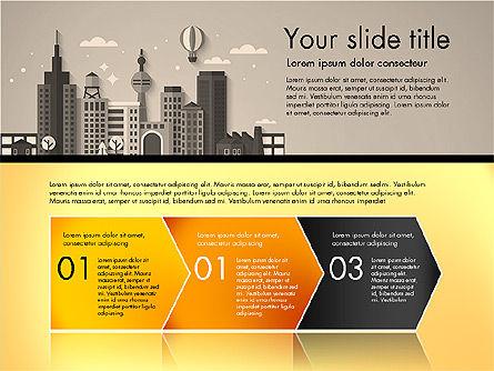 Presentation with City, Slide 12, 02921, Presentation Templates — PoweredTemplate.com