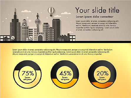 Presentation with City, Slide 13, 02921, Presentation Templates — PoweredTemplate.com