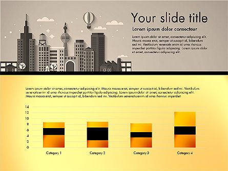 Presentation with City, Slide 14, 02921, Presentation Templates — PoweredTemplate.com