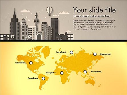 Presentation with City, Slide 15, 02921, Presentation Templates — PoweredTemplate.com