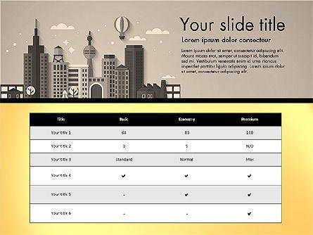 Presentation with City, Slide 16, 02921, Presentation Templates — PoweredTemplate.com