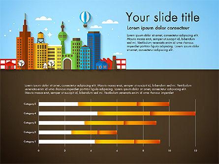 Presentation with City, Slide 2, 02921, Presentation Templates — PoweredTemplate.com