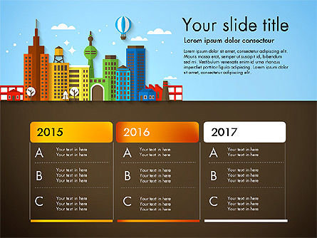 Presentation with City, Slide 3, 02921, Presentation Templates — PoweredTemplate.com