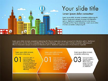 Presentation with City, Slide 4, 02921, Presentation Templates — PoweredTemplate.com
