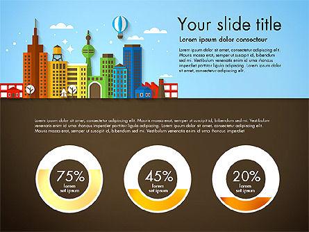 Presentation with City, Slide 5, 02921, Presentation Templates — PoweredTemplate.com