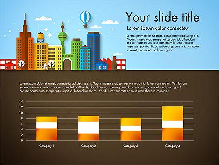 Presentation with City, Slide 6, 02921, Presentation Templates — PoweredTemplate.com
