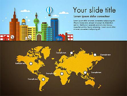 Presentation with City, Slide 7, 02921, Presentation Templates — PoweredTemplate.com