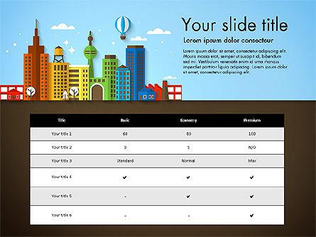 Presentation with City, Slide 8, 02921, Presentation Templates — PoweredTemplate.com