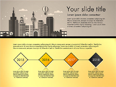 Presentation with City, Slide 9, 02921, Presentation Templates — PoweredTemplate.com