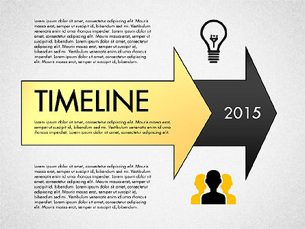 Timeline with Stages and Icons, 02924, Timelines & Calendars — PoweredTemplate.com