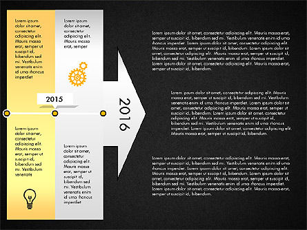 Timeline with Stages and Icons, Slide 12, 02924, Timelines & Calendars — PoweredTemplate.com