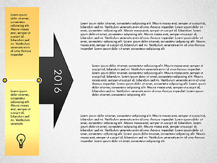 Timeline with Stages and Icons, Slide 3, 02924, Timelines & Calendars — PoweredTemplate.com