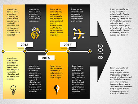 Timeline with Stages and Icons, Slide 6, 02924, Timelines & Calendars — PoweredTemplate.com