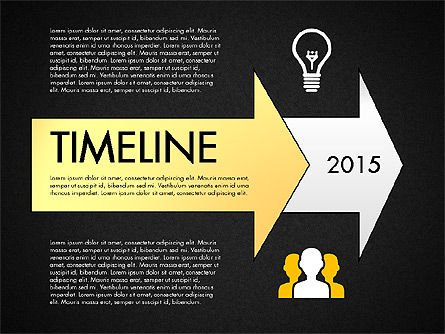 Timeline with Stages and Icons, Slide 9, 02924, Timelines & Calendars — PoweredTemplate.com