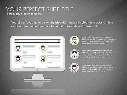 Search Concept Presentation Template, Slide 10, 02925, Presentation Templates — PoweredTemplate.com