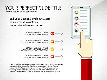 Search Concept Presentation Template, Slide 8, 02925, Presentation Templates — PoweredTemplate.com