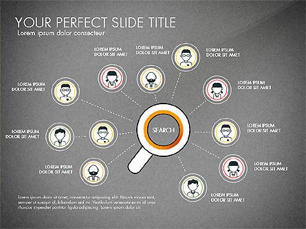 Search Concept Presentation Template, Slide 9, 02925, Presentation Templates — PoweredTemplate.com