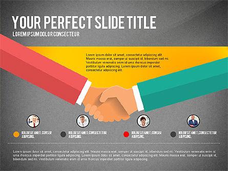 Business Hands Presentation Concept, Slide 12, 02926, Presentation Templates — PoweredTemplate.com