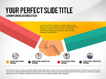 Business Hands Presentation Concept, Slide 4, 02926, Presentation Templates — PoweredTemplate.com