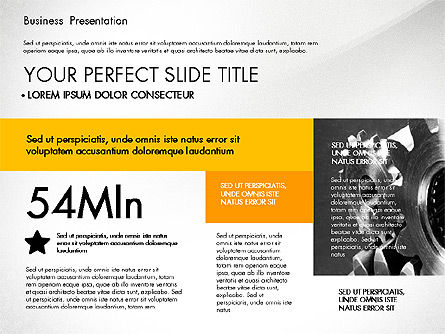 professional business presentation with data driven charts for