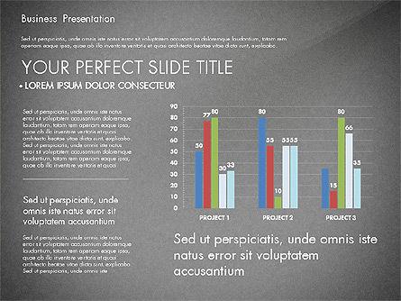 Professional Business Presentation with Data Driven Charts, Slide 13, 02927, Presentation Templates — PoweredTemplate.com