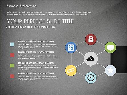 Professional Business Presentation with Data Driven Charts, Slide 16, 02927, Presentation Templates — PoweredTemplate.com